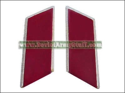 Soviet Army Uniform Collar Tabs Red w/o Badges