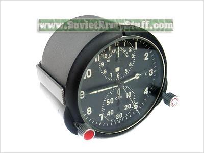 Russian soviet mig jet air plane cockpit clock achs 1