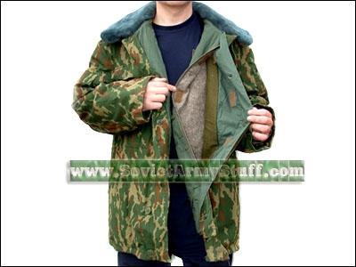 Russian Army Winter Camo Jacket Parka + Pants - DUBOK VSR 0f7abbb41