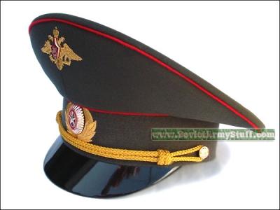 bda4e9099f9 Russian Army Military Officer Uniform Visor Hat Cap Peaked Hat  2