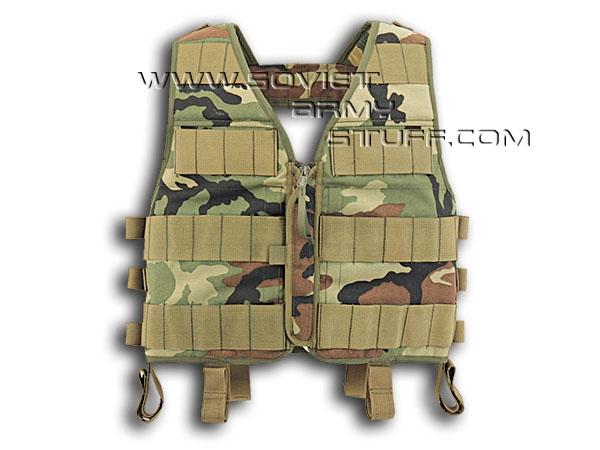 a63c655975f Russian Army Spetsnaz Tactical Assault Vest TARZAN M33 WOODLAND