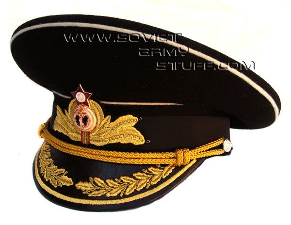 Soviet Officer Hat Officer Uniform Visor Hat