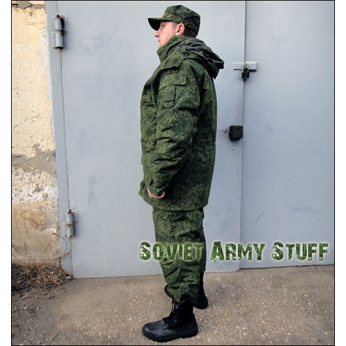The New Russian Army Winter Camo Uniform suit Jacket and Pants Digital Flora Pattern