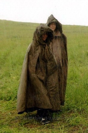 Soviet Army Military Raincoat / Tent Gorundsheet Poncho Plash Palatka WW2 Shelter Cape