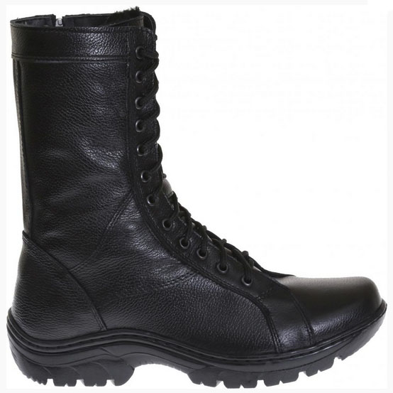 Russian Military Warm Cold Weather Leather Boots with Fur