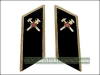 Soviet Army Firemen Troops Uniform Collar Tabs Black