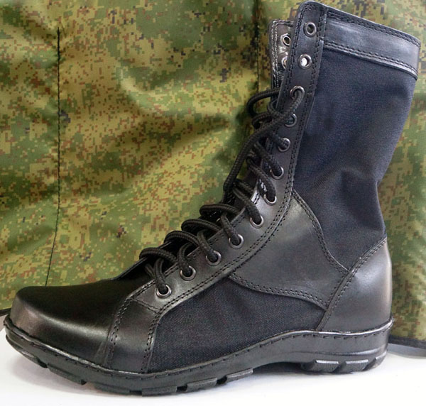 Russian Military Light Summer Hot Weather Leather Boots Cordura