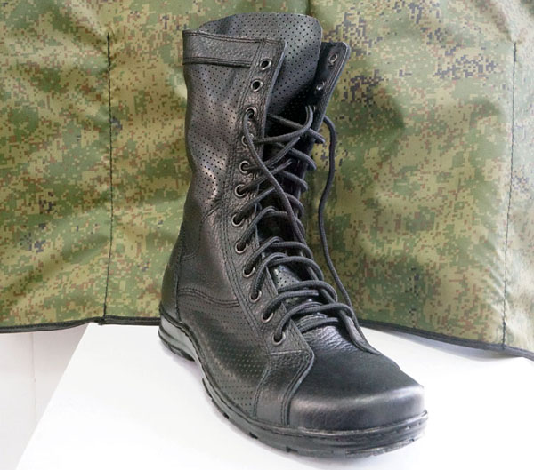 Russian Military Light Summer Hot Weather Leather Boots Perforated