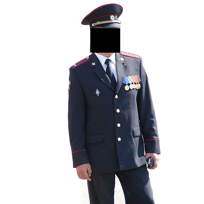 Russian Police Officer Uniform Suit Jacket Pants
